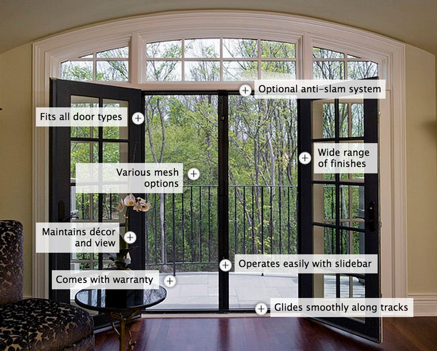 Retractable Screen Door For French Patio Doors Sevenstonesinc